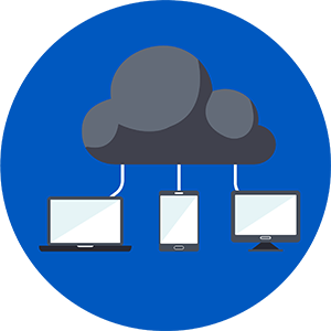 icon depicting cloud computing